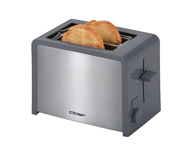 Cloer 3719 schwarz//Edelstahl Toaster Nachhebevorrichtung Brötchenaufsatz